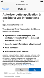 Apple iPhone 8 - iOS 12 - E-mail - Configuration manuelle (outlook) - Étape 8
