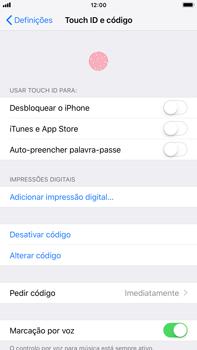 Apple iPhone 7 Plus - iOS 12 - Segurança - Como ativar o código de bloqueio do ecrã -  8