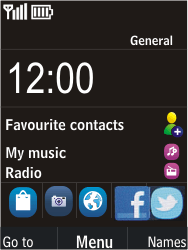 Nokia C2-05 - Voicemail - Manual configuration - Step 1