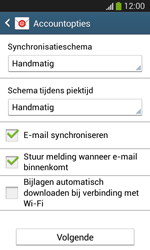 Samsung Galaxy S3 Mini VE (I8200N) - E-mail - Account instellen (IMAP zonder SMTP-verificatie) - Stap 17