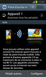 Samsung Galaxy Trend - Internet et connexion - Partager votre connexion en Wi-Fi - Étape 7