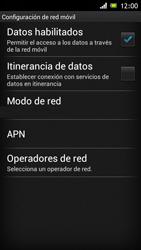Sony Xperia J - Internet - Activar o desactivar la conexión de datos - Paso 6