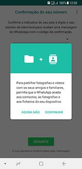 Samsung Galaxy A8 (2018) - Aplicações - Como configurar o WhatsApp -  6