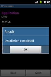 Samsung S7500 Galaxy Ace Plus - MMS - Automatic configuration - Step 7