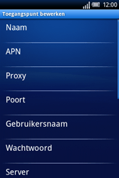 Sony Ericsson Xperia X8 - Internet - handmatig instellen - Stap 9