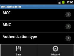 Samsung B5510 Galaxy TXT - MMS - Manual configuration - Step 13