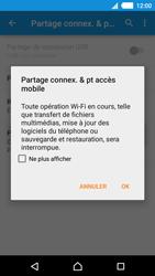 Sony Xperia M4 Aqua - Internet et connexion - Partager votre connexion en Wi-Fi - Étape 12