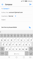Huawei P8 Lite 2017 - Email - Sending an email message - Step 8