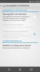 Sony Xperia E4g - Aller plus loin - Restaurer les paramètres d'usines - Étape 5