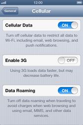Apple iPhone 4 S iOS 6 - Internet - Usage across the border - Step 5