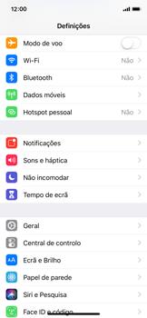 Apple iPhone X - iOS 12 - Internet no telemóvel - Como ativar os dados móveis -  3