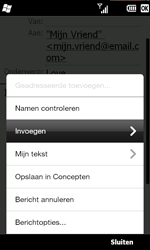 HTC T8585 HD II - E-mail - Hoe te versturen - Stap 10