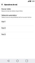 LG K10 (2017) - Red - Seleccionar una red - Paso 9