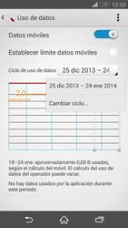 Sony Xperia Z3 - Internet - Ver uso de datos - Paso 6