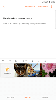 Samsung Galaxy S6 edge+ - Android Nougat - E-mail - hoe te versturen - Stap 11