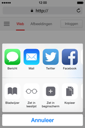 Apple iPhone 4S met iOS 8 (Model A1387) - Internet - Hoe te internetten - Stap 16