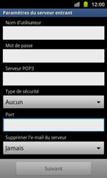 Samsung I8530 Galaxy Beam - E-mail - Configurer l