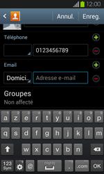 Samsung Galaxy S2 - Contact, Appels, SMS/MMS - Ajouter un contact - Étape 12