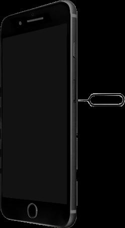 Apple iPhone 8 Plus - Premiers pas - Insérer la carte SIM - Étape 2