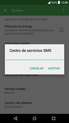 Alcatel Idol 3 - Mensajería - Configurar el equipo para mensajes de texto - Paso 7