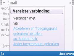 Nokia E5-00 - E-mail - handmatig instellen - Stap 8