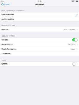 Apple iPad Pro 9.7 - iOS 10 - Email - Manual configuration - Step 23