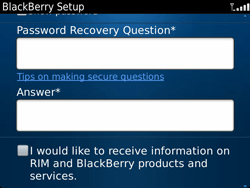 BlackBerry 9900 Bold Touch - BlackBerry activation - BlackBerry ID activation - Step 10