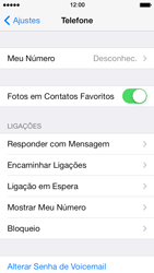 Apple iPhone iOS 7 - Chamadas - Como bloquear chamadas de um número específico - Etapa 5