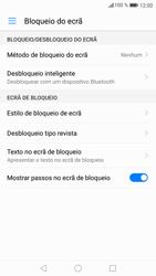 Huawei P9 Lite - Android Nougat - Segurança - Como ativar o código de bloqueio do ecrã -  4