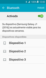 Samsung Galaxy J1 (2016) (J120) - Bluetooth - Conectar dispositivos a través de Bluetooth - Paso 6