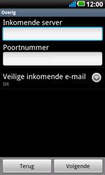 LG P990 Optimus 2X Speed - E-mail - e-mail instellen: POP3 - Stap 8