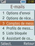 Samsung B2100 Xplorer - E-mail - Configuration manuelle - Étape 8