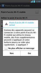 LG Optimus F6 - Internet et connexion - Partager votre connexion en Wi-Fi - Étape 10