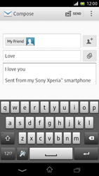 Sony C5503 Xperia ZR - Email - Sending an email message - Step 10