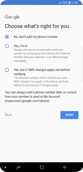 Samsung Galaxy S9 Plus - Applications - Create an account - Step 17
