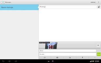 Sony Xperia Tablet Z - Mensajería - Escribir y enviar un mensaje multimedia - Paso 15