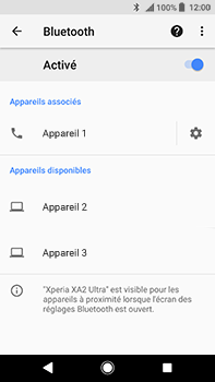 Sony Xperia XA2 Ultra - Bluetooth - connexion Bluetooth - Étape 11