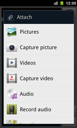 Samsung I9100 Galaxy S II - MMS - Sending pictures - Step 6