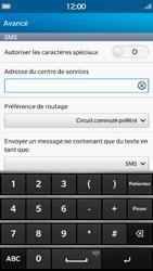 BlackBerry Z30 - SMS - Configuration manuelle - Étape 8