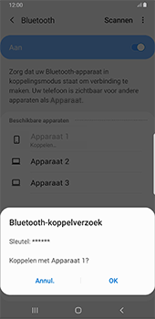 Samsung Galaxy S8+ - Android Pie (SM-G955F) - Bluetooth - Headset, carkit verbinding - Stap 8