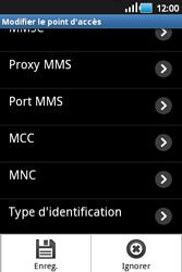 Samsung S5660 Galaxy Gio - MMS - configuration manuelle - Étape 12