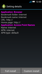 Alcatel OT-6012X Idol Mini - Settings - Configuration message received - Step 9