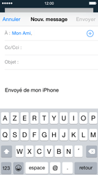 Apple iPhone 5s (iOS 8) - E-mails - Envoyer un e-mail - Étape 6