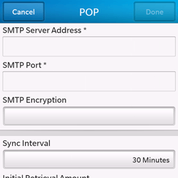 BlackBerry Q10 - E-mail - Manual configuration - Step 13