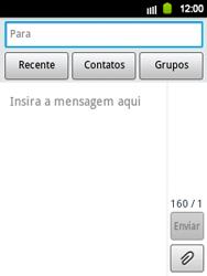 Samsung Galaxy Y - Mensagens - Como criar e enviar mensagens multimídia (MMS) - Etapa 5