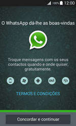 Samsung Galaxy Trend 2 Lite - Aplicações - Como configurar o WhatsApp -  5
