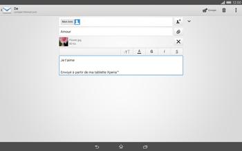 Sony Xperia Tablet Z2 (SGP521) - E-mail - envoyer un e-mail - Étape 13