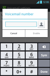 LG E610 Optimus L5 - Voicemail - Manual configuration - Step 7