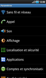 Samsung I9000 Galaxy S - Messagerie vocale - configuration manuelle - Étape 5