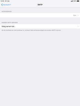 Apple ipad-mini-5-7-9-inch-2019-model-a2124 - E-mail - Account instellen (POP3 zonder SMTP-verificatie) - Stap 17